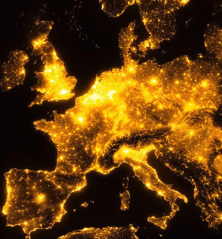 carte pollution lumineuse 2020 Pollution lumineuse : retrouver le noir de la nuit   Terres et