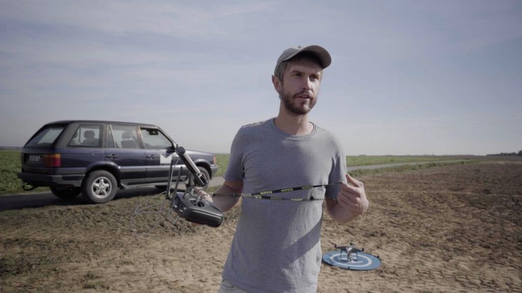 Vidéaste autodidacte, Hugo Lalisse a filmé une récolte de betterave dans le Cambrésis fin 2018 avec un drone.